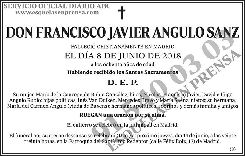 Francisco Javier Angulo Sanz